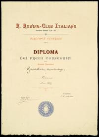 Diploma del Rowing Club Italiano - 1897