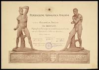 Diploma di Medaglia di Bronzo per il VI Concorso Ginnastico Italiano - Firenze, 5 giugno 1904