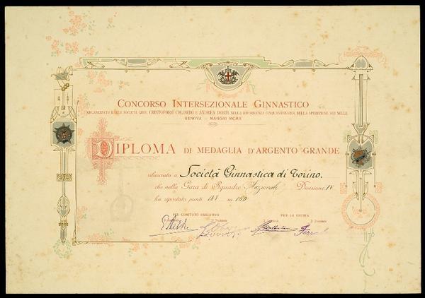 Concorso Intersezionale Ginnastico nel cinquantenario della Spedizione dei Mille - Genova, maggio 1910