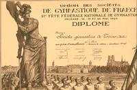 Prix d'excellence alla 51^ Fête fédérale Nationale de Gymnastique - Orléans, 18-20 maggio 1929