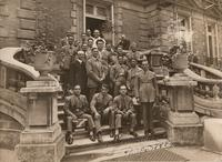 Atleti e dirigenti in partenza per le Olimpiadi di Parigi del 1924